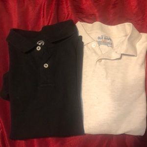 A set of 2 boys polo shirts - Lg & XL